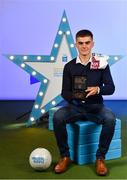 28 September 2019; Pictured is Kildare's Minor footballer Aaron Brown who was named on the Electric Ireland Minor Football Team of the Year at the 2019 Electric Ireland Minor Star Awards. The Football Team of the Year was selected by an expert panel of GAA legends including Alan Kerins, Derek McGrath, Karl Lacey and Tomás Quinn. The Electric Ireland GAA Minor Star Awards create a major moment for Minor players, showcasing the outstanding achievements of individual performers throughout the Championship season. The awards also recognise the effort of those who support them day in and day out, from their coaches to parents, clubs and communities. #GAAThisIsMajor Photo by Seb Daly/Sportsfile