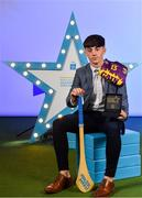 28 September 2019; Pictured is Wexford's Minor hurler AJ Redmond who was named on the Electric Ireland Minor Hurling Team of the Year at the 2019 Electric Ireland Minor Star Awards. The Hurling Team of the Year was selected by an expert panel of GAA legends including Alan Kerins, Derek McGrath, Karl Lacey and Tomás Quinn. The Electric Ireland GAA Minor Star Awards create a major moment for Minor players, showcasing the outstanding achievements of individual performers throughout the Championship season. The awards also recognise the effort of those who support them day in and day out, from their coaches to parents, clubs and communities. #GAAThisIsMajor Photo by Seb Daly/Sportsfile