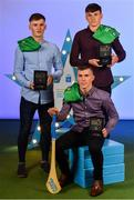 28 September 2019; Pictured are Limerick's Minor hurlers, from left, Ronan Lyons, Patrick Kirby and Cathal O'Neill who were named on the Electric Ireland Minor Hurling Team of the Year at the 2019 Electric Ireland Minor Star Awards. The Hurling Team of the Year was selected by an expert panel of GAA legends including Alan Kerins, Derek McGrath, Karl Lacey and Tomás Quinn. The Electric Ireland GAA Minor Star Awards create a major moment for Minor players, showcasing the outstanding achievements of individual performers throughout the Championship season. The awards also recognise the effort of those who support them day in and day out, from their coaches to parents, clubs and communities. #GAAThisIsMajor Photo by Seb Daly/Sportsfile