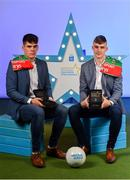 28 September 2019; Pictured are Mayo's Minor footballers Ethan Henry, left, and Oisín Tunney who were named on the Electric Ireland Minor Football Team of the Year at the 2019 Electric Ireland Minor Star Awards. The Football Team of the Year was selected by an expert panel of GAA legends including Alan Kerins, Derek McGrath, Karl Lacey and Tomás Quinn. The Electric Ireland GAA Minor Star Awards create a major moment for Minor players, showcasing the outstanding achievements of individual performers throughout the Championship season. The awards also recognise the effort of those who support them day in and day out, from their coaches to parents, clubs and communities. #GAAThisIsMajor Photo by Seb Daly/Sportsfile