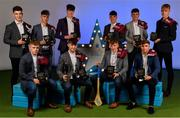 28 September 2019; Pictured are Galway's Minor footballers and Minor hurlers, back row, from left, Tomo Culhane, Alex Connaire, Greg Thomas, Christy Brennan, Eoin Lawless and James McLaughlin, front row, from left, Jonathan McGrath, Seán McDonagh, Ian McGlynn and Daniel Cox who were named on the Electric Ireland Minor Hurling and Football Teams of the Year at the 2019 Electric Ireland Minor Star Awards. The Hurling/Football Team of the Year was selected by an expert panel of GAA legends including Alan Kerins, Derek McGrath, Karl Lacey and Tomás Quinn. The Electric Ireland GAA Minor Star Awards create a major moment for Minor players, showcasing the outstanding achievements of individual performers throughout the Championship season. The awards also recognise the effort of those who support them day in and day out, from their coaches to parents, clubs and communities. #GAAThisIsMajor Photo by Seb Daly/Sportsfile
