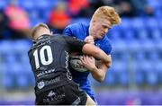 28 September 2019; Tommy O'Brien of Leinster is tackled by Arwel Robson of Dragons during The Celtic Cup Round 6 match between Leinster and Dragons at Energia Park in Donnybrook, Dublin. Photo by Piaras Ó Mídheach/Sportsfile