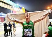 28 September 2019; Brendan Boyce of Ireland celebrates after finishing sixth in the Men's 50km Race Walk during day two of the World Athletics Championships 2019 at The Corniche in Doha, Qatar. Photo by Sam Barnes/Sportsfile