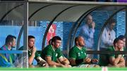 28 September 2019; Ireland players, from left, Cian Healy, Tadhg Furlong, Peter O'Mahony, Rory Best and Chris Farrell during the 2019 Rugby World Cup Pool A match between Japan and Ireland at the Shizuoka Stadium Ecopa in Fukuroi, Shizuoka Prefecture, Japan. Photo by Brendan Moran/Sportsfile