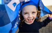 29 September 2019; 6 year old Dublin supporter Aurelia Cadogan from Crumlin, Dublin, in attendance at the Dublin Senior Football teams homecoming at Merrion Square in Dublin. Photo by David Fitzgerald/Sportsfile