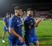 28 September 2019; Vakh Abdaladze, left, and Michael Milne of Leinster following the Guinness PRO14 Round 1 match between Benetton and Leinster at Stadio Monigo in Treviso, Italy. Photo by Ramsey Cardy/Sportsfile