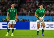 28 September 2019; Joey Carbery, right and Conor Murray of Ireland during the 2019 Rugby World Cup Pool A match between Japan and Ireland at the Shizuoka Stadium Ecopa in Fukuroi, Shizuoka Prefecture, Japan. Photo by Brendan Moran/Sportsfile