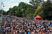 29 September 2019; Dublin supporters in attendance during the Dublin Senior Football teams homecoming at Merrion Square in Dublin. Photo by David Fitzgerald/Sportsfile