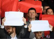 29 September 2019; Former Republic of Ireland international Niall Quinn during the Extra.ie FAI Cup Semi-Final match between Sligo Rovers and Dundalk at The Showgrounds in Sligo. Photo by Stephen McCarthy/Sportsfile