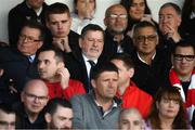 29 September 2019; FAI President Donal Conway and former Republic of Ireland international Niall Quinn during the Extra.ie FAI Cup Semi-Final match between Sligo Rovers and Dundalk at The Showgrounds in Sligo. Photo by Stephen McCarthy/Sportsfile