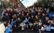 29 September 2019; Dublin players and staff celebrate with the Sam Maguire Cup during the Dublin Senior Football teams homecoming with the Sam Maguire Cup at Merrion Square in Dublin. Photo by David Fitzgerald/Sportsfile