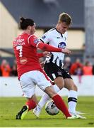 29 September 2019; Ronan Coughlan of Sligo Rovers in action against Daniel Cleary of Dundalk during the Extra.ie FAI Cup Semi-Final match between Sligo Rovers and Dundalk at The Showgrounds in Sligo. Photo by Stephen McCarthy/Sportsfile