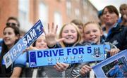 29 September 2019; Dublin supporters during the Dublin Senior Football teams homecoming with the Sam Maguire Cup at Merrion Square in Dublin. Photo by David Fitzgerald/Sportsfile