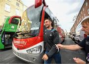 29 September 2019; James McCarthy of Dublin gets off the bus during the Dublin Senior Football teams homecoming at Merrion Square in Dublin. Expressway as official carriers of the Dublin senior football team are proud to have carried the Dubs to a historic 5 in a row. Expressway has been official carriers of Dublin GAA since 2015 and each year since Dublin have won the Sam Maguire trophy. Photo by David Fitzgerald/Sportsfile