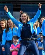 29 September 2019; Sinéad Goldrick celebrates during the Dublin Senior Football teams homecoming at Merrion Square in Dublin. Photo by Piaras Ó Mídheach/Sportsfile