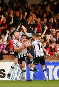 29 September 2019; Michael Duffy of Dundalk celebrates after scoring his side's first goal during the Extra.ie FAI Cup Semi-Final match between Sligo Rovers and Dundalk at The Showgrounds in Sligo. Photo by Stephen McCarthy/Sportsfile