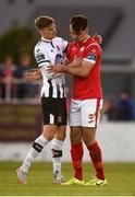 29 September 2019; A dejected John Mahon of Sligo Rovers is consoled by Seán Gannon of Dundalk following the Extra.ie FAI Cup Semi-Final match between Sligo Rovers and Dundalk at The Showgrounds in Sligo. Photo by Stephen McCarthy/Sportsfile