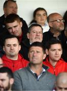 29 September 2019; FAI President Donal Conway and former Republic of Ireland international Niall Quinn watch on during the Extra.ie FAI Cup Semi-Final match between Sligo Rovers and Dundalk at The Showgrounds in Sligo. Photo by Stephen McCarthy/Sportsfile