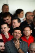 29 September 2019; Former Republic of Ireland international Niall Quinn watches on during the Extra.ie FAI Cup Semi-Final match between Sligo Rovers and Dundalk at The Showgrounds in Sligo. Photo by Stephen McCarthy/Sportsfile