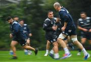 30 September 2019; Michael Milne, left, and Rónan Kelleher during Leinster Rugby squad training at Rosemount in UCD, Dublin. Photo by Ramsey Cardy/Sportsfile