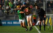 27 July 2019; John Donnelly of Kilkenny in action against Tom Morrissey of Limerick during the GAA Hurling All-Ireland Senior Championship Semi-Final match between Kilkenny and Limerick at Croke Park in Dublin. Photo by Piaras Ó Mídheach/Sportsfile