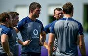 1 October 2019; Jean Kleyn, centre, and Tadhg Beirne during Ireland Rugby squad training at the Kobelco Steelers in Kobe, Japan. Photo by Brendan Moran/Sportsfile