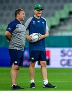 2 October 2019; Head coach Joe Schmidt, right, with kicking coach Richie Murphy during Ireland Rugby captain's run at the Kobe Misaki Stadium in Kobe, Japan. Photo by Brendan Moran/Sportsfile