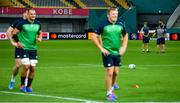 2 October 2019; Head coach Joe Schmidt, left, with kicking coach Richie Murphy and defence coach Andy Farrell during Ireland Rugby captain's run at the Kobe Misaki Stadium in Kobe, Japan. Photo by Brendan Moran/Sportsfile