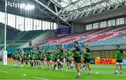 2 October 2019; Ireland players, including Tadhg Beirne, Andrew Porter and John Ryan, during their captain's run at the Kobe Misaki Stadium in Kobe, Japan. Photo by Brendan Moran/Sportsfile