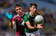 11 August 2019; Seán O'Brien of Kerry in action against Conall Gallagher of Galway during the Electric Ireland GAA Football All-Ireland Minor Championship Semi-Final match between Kerry and Galway at Croke Park in Dublin. Photo by Piaras Ó Mídheach/Sportsfile