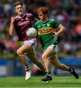 11 August 2019; Dylan O'Callaghan of Kerry in action against James Webb of Galway during the Electric Ireland GAA Football All-Ireland Minor Championship Semi-Final match between Kerry and Galway at Croke Park in Dublin. Photo by Piaras Ó Mídheach/Sportsfile