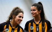 8 September 2019; Kilkenny players Meighan Farrell, left, and Davina Tobin before the Liberty Insurance All-Ireland Senior Camogie Championship Final match between Galway and Kilkenny at Croke Park in Dublin. Photo by Piaras Ó Mídheach/Sportsfile