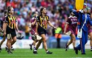 8 September 2019; Kilkenny captain Anna Farrell leads her team-mates in the parade before the Liberty Insurance All-Ireland Senior Camogie Championship Final match between Galway and Kilkenny at Croke Park in Dublin. Photo by Piaras Ó Mídheach/Sportsfile