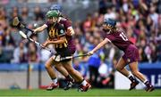 8 September 2019; Collette Dormer of Kilkenny in action against Niamh Hanniffy, centre, and Noreen Coen of Galway during the Liberty Insurance All-Ireland Senior Camogie Championship Final match between Galway and Kilkenny at Croke Park in Dublin. Photo by Piaras Ó Mídheach/Sportsfile