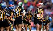 8 September 2019; Katie Power of Kilkenny encourages her team-mates before the Liberty Insurance All-Ireland Senior Camogie Championship Final match between Galway and Kilkenny at Croke Park in Dublin. Photo by Piaras Ó Mídheach/Sportsfile