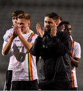 2 October 2019; Bohemians manager Craig Sexton following the UEFA Youth League First Round First Leg between Bohemians and PAOK at Dalymount Park in Dublin. Photo by David Fitzgerald/Sportsfile