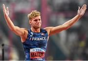 3 October 2019; Kevin Mayer of France reacts after pulling up in the Pole Vault of the Men's Decathlon during day seven of the 17th IAAF World Athletics Championships Doha 2019 at the Khalifa International Stadium in Doha, Qatar. Photo by Sam Barnes/Sportsfile