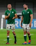 3 October 2019; Tadhg Beirne, left, and Jean Kleyn of Ireland during the 2019 Rugby World Cup Pool A match between Ireland and Russia at the Kobe Misaki Stadium in Kobe, Japan. Photo by Brendan Moran/Sportsfile