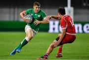 3 October 2019; Garry Ringrose of Ireland in action against German Davydov of Russia during the 2019 Rugby World Cup Pool A match between Ireland and Russia at the Kobe Misaki Stadium in Kobe, Japan. Photo by Brendan Moran/Sportsfile