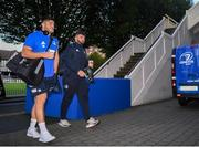 4 October 2019; Vakh Abdaladze and Michael Milne of Leinster arrive prior to the Guinness PRO14 Round 2 match between Leinster and Ospreys at the RDS Arena in Dublin. Photo by Harry Murphy/Sportsfile