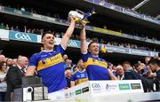 18 August 2019; Tipperary's Ronan, left, and Padraic Maher lift the Liam MacCarthy Cup after the GAA Hurling All-Ireland Senior Championship Final match between Kilkenny and Tipperary at Croke Park in Dublin. Photo by Ray McManus/Sportsfile