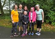 5 October 2019; Parkrun Ireland in partnership with Vhi, added a new parkrun on Saturday, 5th October, with the introduction of the Coole parkrun, in Coole Demesne, Co. Galway. Parkruns take place over a 5km course weekly, are free to enter and are open to all ages and abilities, providing a fun and safe environment to enjoy exercise. Pictured are, Yvonne and Alfie Petershill, Zoe Whelan, Olive Joyce, Isabel Whelan and Debbie Keane, all from ClonburTo register for a parkrun near you visit www.parkrun.ie. Photo by Ray Ryan/Sportsfile