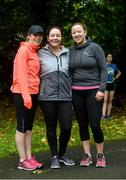5 October 2019; Parkrun Ireland in partnership with Vhi, added a new parkrun on Saturday, 5th October, with the introduction of the Coole parkrun, in Coole Demesne, Co. Galway. Parkruns take place over a 5km course weekly, are free to enter and are open to all ages and abilities, providing a fun and safe environment to enjoy exercise. Pictured are, Evelyn Linnane, Gort, Aoife McMahon, Gort and Fiona Curley Dervan, Gort. To register for a parkrun near you visit www.parkrun.ie. Photo by Ray Ryan/Sportsfile