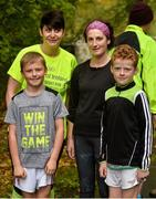 5 October 2019; Parkrun Ireland in partnership with Vhi, added a new parkrun on Saturday, 5th October, with the introduction of the Coole parkrun, in Coole Demesne, Co. Galway. Parkruns take place over a 5km course weekly, are free to enter and are open to all ages and abilities, providing a fun and safe environment to enjoy exercise. Pictured are, Natasha and Conor Naughton, Gort, Loretta Duggan, Broadford, Clare and Fionnan Walsh, Gort. To register for a parkrun near you visit www.parkrun.ie. Photo by Ray Ryan/Sportsfile