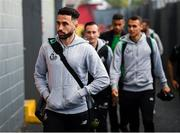 5 October 2019; Roberto Lopes of Shamrock Rovers arrives prior to the SSE Airtricity League Premier Division match between Sligo Rovers and Shamrock Rovers at The Showgrounds in Sligo. Photo by Stephen McCarthy/Sportsfile
