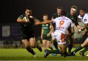 5 October 2019; Caolin Blade of Connacht avoids the tackle of Luca Petrozzi of Benetton on his way to scoring his side's second try during the Guinness PRO14 Round 2 match between Connacht and Benetton at The Sportsground in Galway. Photo by Harry Murphy/Sportsfile
