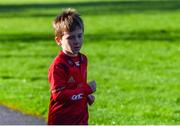 6 October 2019; Oisín McGuinness pictured at the Shelbourne Junior parkrun where Vhi hosted a special event to celebrate their partnership with parkrun Ireland. Vhi hosted a lively warm up routine which was great fun for children and adults alike. Crossing the finish line was a special experience as children were showered with bubbles and streamers to celebrate their achievement and each child received a gift. Junior parkrun in partnership with Vhi support local communities in organising free, weekly, timed 2km runs every Sunday at 9.30am. To register for a parkrun near you visit www.parkrun.ie. Photo by Piaras Ó Mídheach/Sportsfile