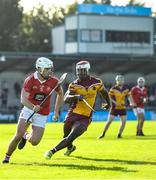 6 October 2019; Donnacha Ryan of St Brigids in action against Francis Usanga of Craobh Chiaráin during the Dublin County Senior Club Hurling Championship semi-final match between Craobh Chiaráin and St Brigid's at Parnell Park in Dublin. Photo by David Fitzgerald/Sportsfile