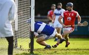 6 October 2019; St Vincents goalkeeper Dara de Poire fails to keep out the deflected cross from Mark Schutte of Cuala during the Dublin County Senior Club Hurling Championship semi-final match between St Vincents and Cuala at Parnell Park in Dublin. Photo by David Fitzgerald/Sportsfile