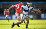 6 October 2019; Ruairi Trainor of St Vincents in action against Nicky Kenny of Cuala during the Dublin County Senior Club Hurling Championship semi-final match between St Vincents and Cuala at Parnell Park in Dublin. Photo by David Fitzgerald/Sportsfile